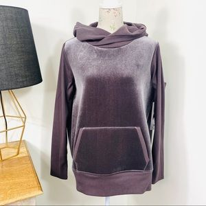 Alo Yoga Luxe Long Sleeve Velvet Hoodie Size L